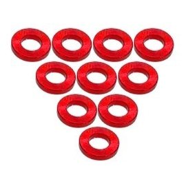 3-Racing 3RAC-WF310/RE Red Aluminum M3 Flat Washer 1.0mm (10)