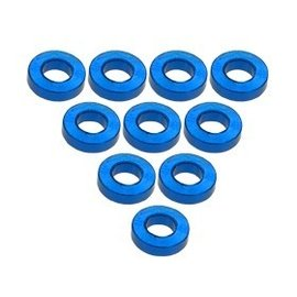 3-Racing Light Blue Aluminum M3 Flat Washer 1.5mm (10)