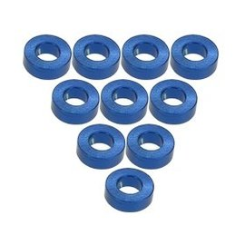 3-Racing Blue Aluminum  M3 Flat Washer 2.0mm (10)