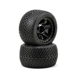"Proline Racing Road Rage 3.8"" Street Tires Mounted on Desperado Wheel (2)"