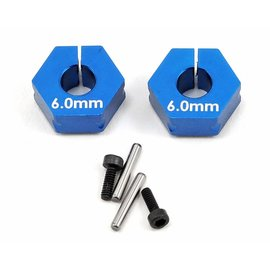 Team Associated B6 Clamping Wheel Hexes 6.0mm (2)