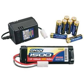 Duratrax Power Kit NiMH 1500 7.2V 2-3 Hour Wall Chager 8AA