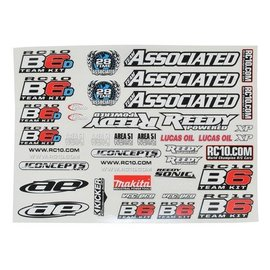 Team Associated ASC91742 B6 Decal Sheet