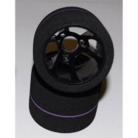 BSR BSRF1234-S 1/12 Team Spec Purple Stripe Rear Foam Tires (2)