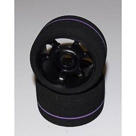 BSR BSRF1233-S 1/12 Team Spec Purple Stripe Front Foam Tires (2)