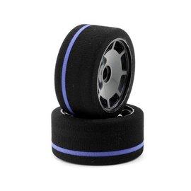 BSR BSR F1033-GT  1/10 World GT Front On-Road Spec Purple Stripe Foam Tires (2)