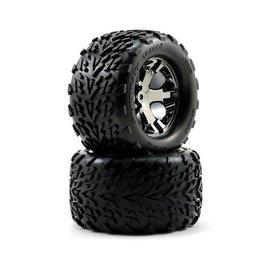 Traxxas Talon Tires on All-Star Black Chrome Wheels