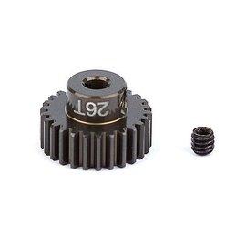 Team Associated FT Aluminum Pinion Gear, 26T 48P, 1/8 shaft