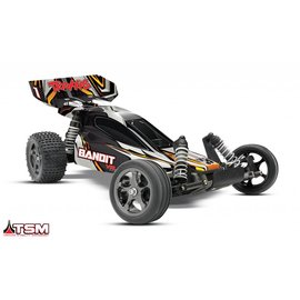Traxxas Bandit VXL 1/10 Scale Buggy Black RTR, w/TSM, 2.4GHz Radio, iD Battery and Charger