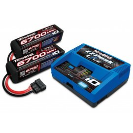 Traxxas Battery/charger completer pack (includes EZ-Peak Live iD charger (1),  6700mAh 14.8V 4-cell 25C LiPo battery (2))