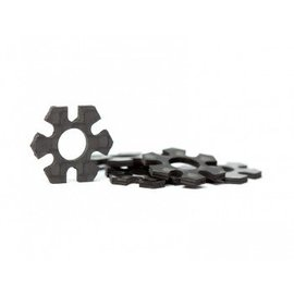 Avid RC 12mm Hex Track Width Spacers | 1mm Carbon | 5 pack