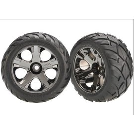 Traxxas 2.8 Anaconda Tires on All-Star Front Wheels (2)