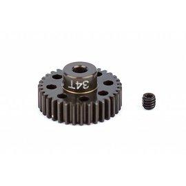 Team Associated FT Aluminum Pinion Gear, 34T 48P, 1/8 shaft