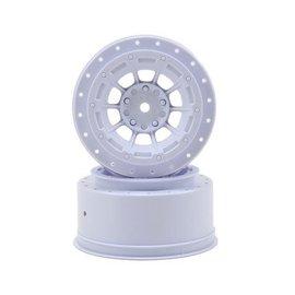 J Concepts JCO3344W  White Hazard SC6.1 or SC5M Front & Rear Wheel 3mm (2)