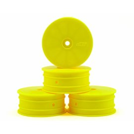 "J Concepts 2.2"" 12mm Hex Front Wheel Yellow (4) TLR 22-4"