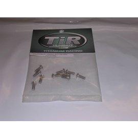 Michaels RC Hobbies Products Titanium 440x8mm Button Head Screws (10)