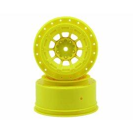J Concepts JCO3344Y  Yellow Hazard SC6.1 or SC5M Front & Rear Wheel 3mm (2)