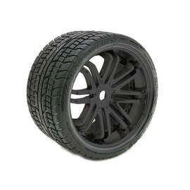 SWEEP Road Crusher Belted Tire on Black Wheels 17mm Hex E-REVO (2)
