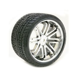 SWEEP Road Crusher Belted Tire on Chrome Wheels 17mm Hex (2)