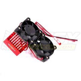 Integy C23137RED Red Motor Heatsink+Twin Cooling Fan