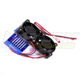 Integy Blue Motor Heatsink+Twin Cooling Fan