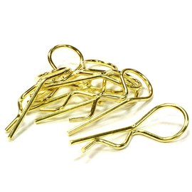 Integy Gold Anodized Bent-Up Body Clips (8)