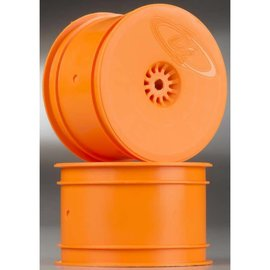 DE Racing Speedline Orange Buggy Rear Wheels for B6 - B6D / RB6 / 22