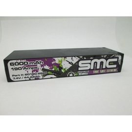 SMC SMC60190-2S2PI True Spec Extreme 7.4V 6000mAh 190 Amps/150C Lipo 5mm Inboard