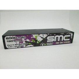 SMC True Spec Extreme 7.4V 6000mAh 190 Amps/150C Lipo 5mm Inboard