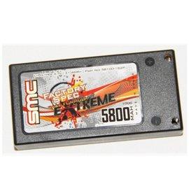 SMC SMC58100-1S2P  Formula Extreme 5800mAh 3.7V 1S 100C Lipo Race Pack