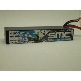 SMC True Spec Premium 11.1V 4300mAh 85Amps/90C Lipo Traxxas Plug