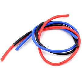 TQ Wire TQR1303  13 Gauge Wire 1' Black Red Blue
