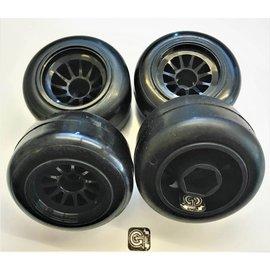 Gravity RC LLC GRC138  G-Spec F1, Pre Glued Tire set (4)
