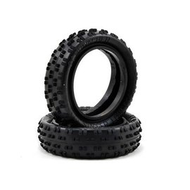 Schumacher U6770 2.2 Slim Front Cut Stagger Rib Tires Yellow (2)