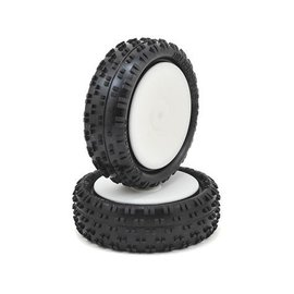 Schumacher 2.2 Wide Stagger Rib 1/10 4WD Buggy Front Tire Mounted (2)