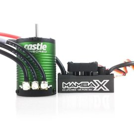 Castle Creations CSE010-0155-02  Mamba X,  Sensored, 25.2V WP 1406-5700Kv Combo