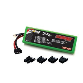 Venom Racing 20C 2S 5000MAH 7.4V Hard Case Lipo Battery Universal Plug