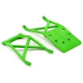 Traxxas Green Front & Rear Skid Plate Set Grave Digger
