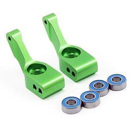 Traxxas Green Aluminum Stub Axle Carrier (2)