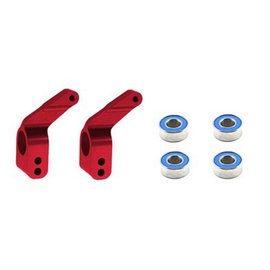 Traxxas Red Aluminum Stub Axle Carriers (4)