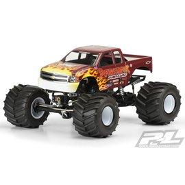 Proline Racing Chevy Silverado Clear Body Solid Axle Monster Truck