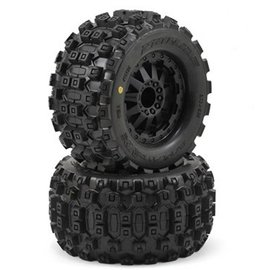 "Proline Racing Badlands 2.8"" Tires on F-11 Black Wheels (2)"