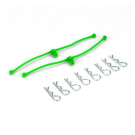 Dubro DUB2253 Body Klip Retainers Lime Green (2)