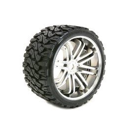 SWEEP Terrain Crusher Offroad Tire on Chrome Wheels (2)