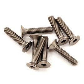 Protek RC PTKT5009  3x14mm Titanium Flat Head Hex Screw (8)