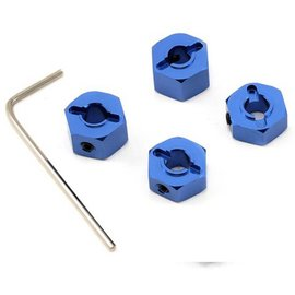 STRC Blue 12mm Aluminum Lock Pin Style Wheel Hex Set (4)