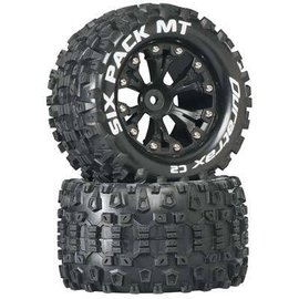 Duratrax DTXC3520  Sixpack Mounted 2.8 C2 Tires & Wheels for the Rear (2)