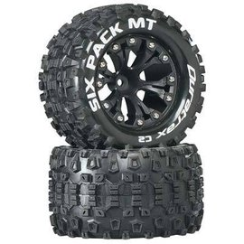Duratrax Sixpack Mounted 2.8 C2 Tires & Wheels for the Front 1/2 Offset (2)