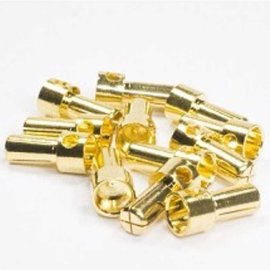 Trinity REV2209 5mm Hi-End Pure Copper Gold Plated Bullet Connectors (12)