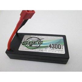 SMC 4300mAh 3.7V 1S 25C Lipo Race Pack